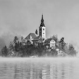 Bled 1 by Bojan Kolman - Black & White Buildings & Architecture (  )