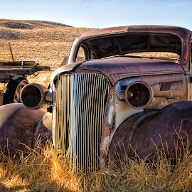 Bodie's Car by Bodz Villavert - Transportation Automobiles ( lee vining, hdr, mining town, california, bodie, ghost town, rusty, transportation, architecture, landscape, deserted, cars, d7000, nikon, rust, old cars, abandoned, decay,  )