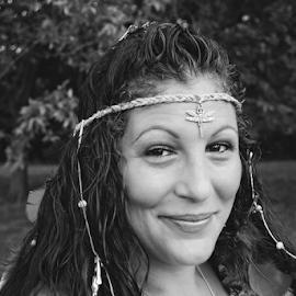 Indian Bride by Jamie Hodge - Wedding Bride ( bridal, black and white, wedding, dragonfly, feathers, bride,  )