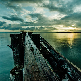 Pier into the Light by Sarah Hauck - Nature Up Close Water