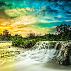 Parigi by Mc Pujiyanta - Landscapes Sunsets & Sunrises ( parigi, waterscape, sunset, waterfall, seascape, landscape, travel photography )