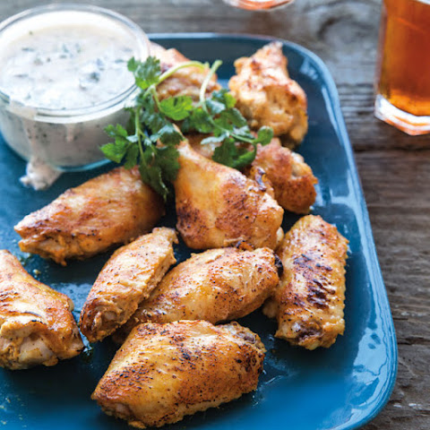 Tandoori Chicken Wings with Lemon-Yogurt Sauce