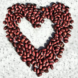 Beans Are Good for Your Heart  by Alexis Lane - Food & Drink Fruits & Vegetables ( valentine's day, heart, valentines, food, beans, vegetables, valentine )