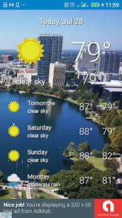 Orlando, FL - weather - screenshot