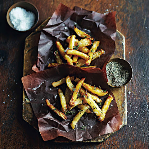 Oven-baked Celeriac Fries With Honey And Thyme Recipes