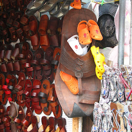 Chapppal by Krishna Prasad - Artistic Objects Clothing & Accessories ( chappal, slipper, big, large, giant )