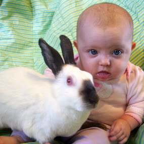 This is a what now? by Kaylana Fief - Babies & Children Babies ( love, silly, best friends, bunny, baby )