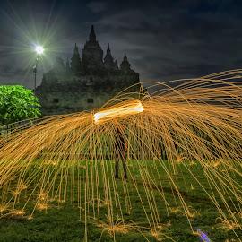 sp by Budi S - City,  Street & Park  Night ( steel wool, night photography, steelwool, night shot, nightscapes, nightscape )