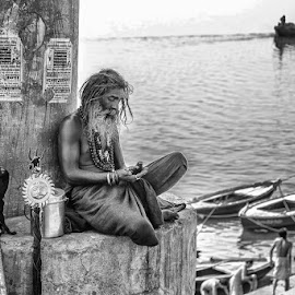 Baba by Raul Correa - People Portraits of Men ( holly, baba, ganges, varanasi, india )