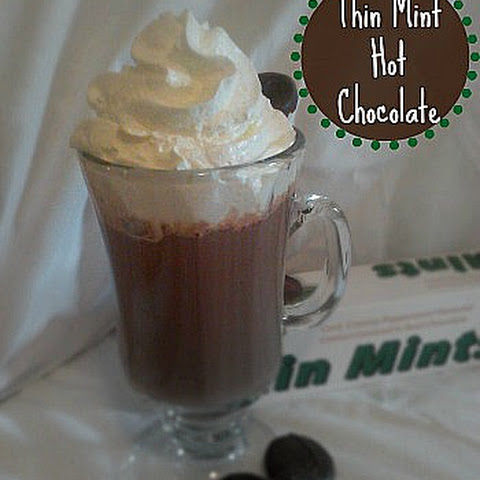 Thin Mint Candy Hot Chocolate