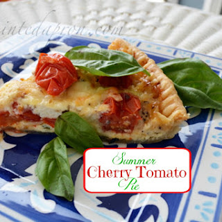 Summer Cherry Tomato Pie