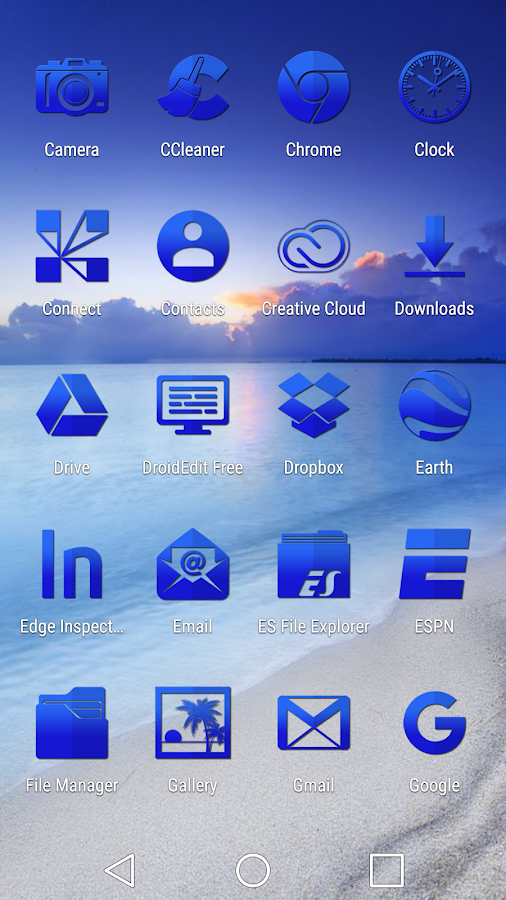 Tap Blue - Icon Pack Screenshot 2