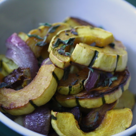 Delicata Squash Salad with Balsamic-Oregano Drizzle