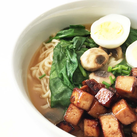 Hoisin Marinated Tofu in Miso Ramen
