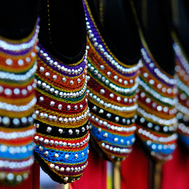 Colourful crafted shoes by Tridibesh Indu - Artistic Objects Clothing & Accessories ( mela, shoes, colourful, handicraft, surajkund, fair, colours )