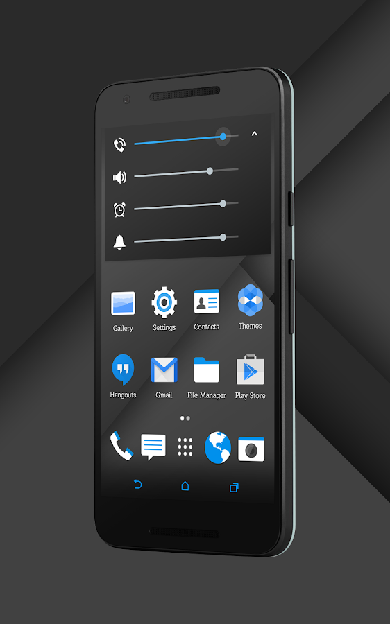 Sense Black/Blue cm13 theme Screenshot 12