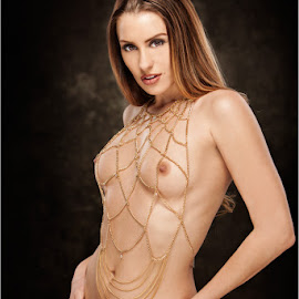 Melissa Jean - Body Chain by Fred Prose - Nudes & Boudoir Artistic Nude ( landing strip, nipples, nude, exposed beauty imaging, breasts, brunette, beauty )
