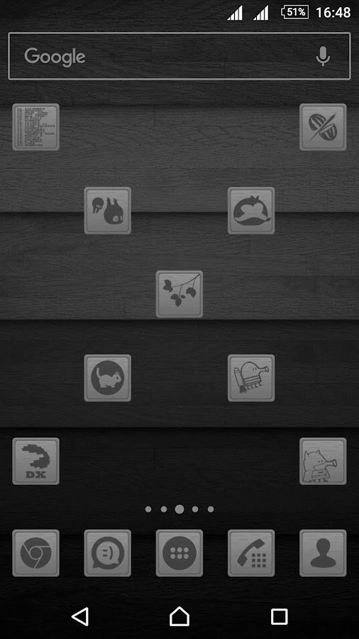 Wooden Icons Gray Screenshot 1