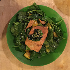 CaliKorPan Poached Miso Salmon Salad