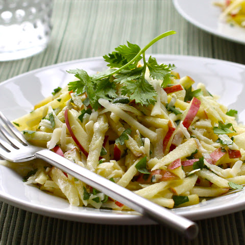Gingered Apple-Cheddar Slaw