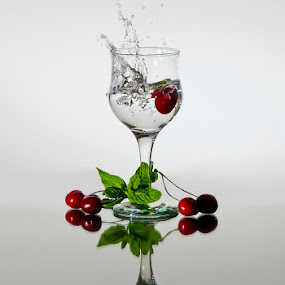 Cherry splash by John Iosifidis - Artistic Objects Other Objects