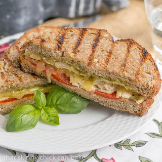 Chicken Pesto Grilled Cheese #SundaySupper