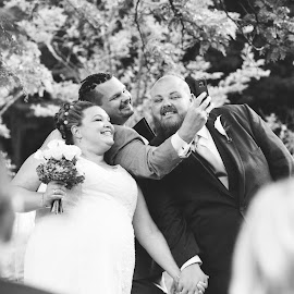 Officiant Takes a Selfie by Lori Rider - Wedding Ceremony