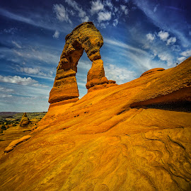 Delicate Arch by Stanley P. - Landscapes Caves & Formations
