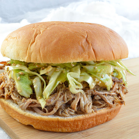 Chinese Five Spice Slow Cooker Pulled Pork Sandwiches