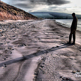 man on the run by Hayley Warriner - Landscapes Beaches