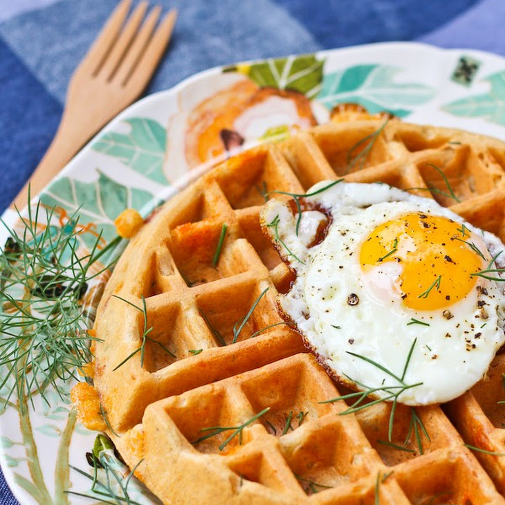 10 Grain Savory Waffles with Cheddar, Dill and Ham Recipe | Yummly