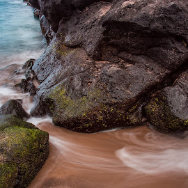 Passage by Alvaro Miranda - Landscapes Beaches ( water, natural light, colorful, waterscape, colors, waves, relaxation, seascape, relaxing, landscape, motion blur, azores, contrast, beaches, nature, movement, motion, natural, rocks )