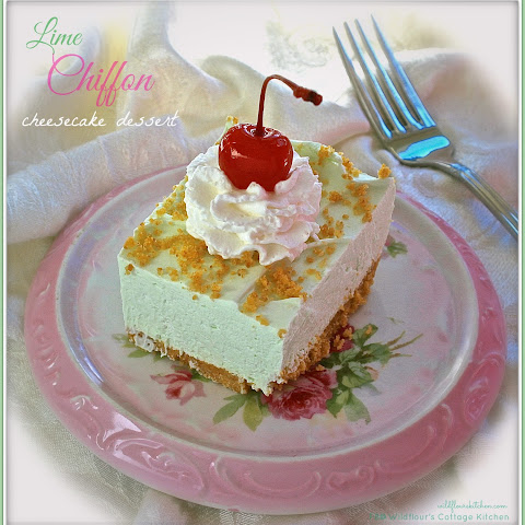 Lime Chiffon Cheesecake Dessert