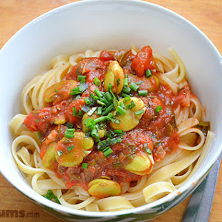 Tomato and Broad Bean Pasta