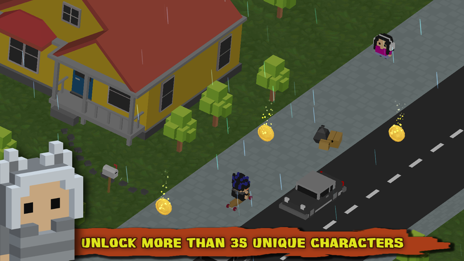Skate Paperboy Screenshot 1