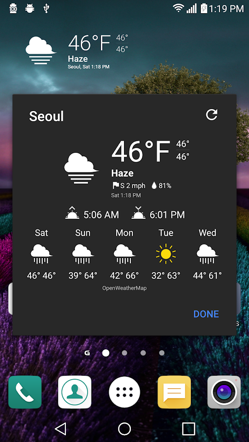 UX 5 Weather Icons for Chronus Screenshot 3