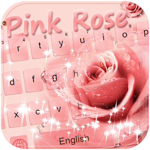 Download Pink rose Emoji Keyboard theme For PC Windows and Mac