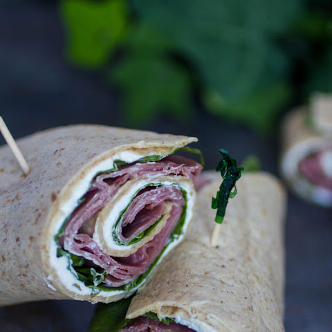 Roast Beef and Spinach Whole Wheat Wraps