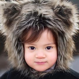 Little Eskimo Dude by Patty Schmitt - Babies & Children Child Portraits ( kids, toddler, cute, smile, kids portrait, hat )