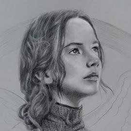 Katnis Everdeen by Alfonso Rahardja - Drawing All Drawing