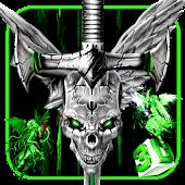 3D Evil Skull Sword Theme APK for Bluestacks