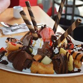 Dessert by Shane Cassidy - Food & Drink Candy & Dessert ( waffle, flapjacks, topping, cream, icecream )