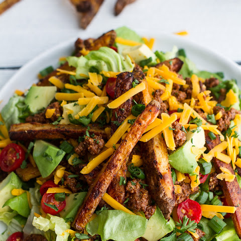 Loaded Cheeseburger French Fry Salad.