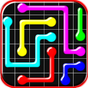 Connect colored lines puzzle