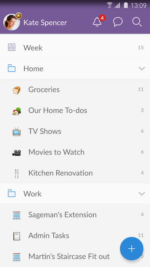 Wunderlist: To-Do List & Tasks Screenshot 4