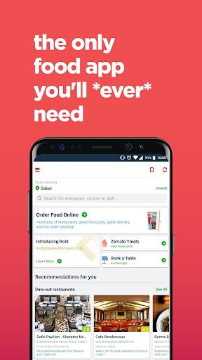 Zomato - Restaurant Finder screenshot 1