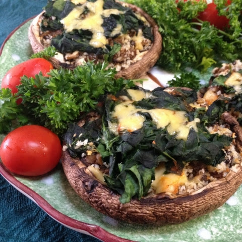 Portobello Mushroom Stuffed With Spinach Recipes | Yummly