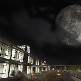 Full Moon by Donny Koerniawan - Buildings & Architecture Other Exteriors ( moon, waseda )