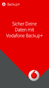 Vodafone Backup+ Screenshot