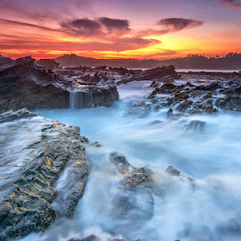 Crack by Dikky Oesin - Landscapes Sunsets & Sunrises ( water, waterscape, sunset, sea, beach, seascape )